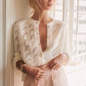 Sezane Sam Mario Jumper Sweater XS Ecru Ivory